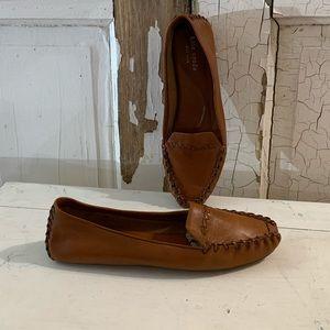 Kate Spade brown leather moccasins Size 8 Brazil